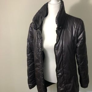 Tommy Hilfiger Jackets & Coats - Tommy Hilfiger Puffer Coat Brown Zip Snaps